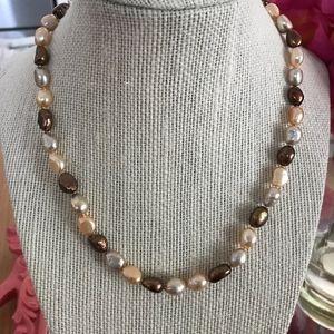 14K Genuine Freshwater Pearl Necklace-NWOT